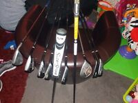 Cleveland set graffite clubs ping putter calloway golf shose size 8 taylormade stage 2 bag