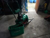 Qualcast 35s classic selfpropelled petrol roller lawnmower in perfect working order