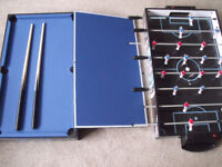 4 in 1 games table or table top-football, pool, air hockey, table tennis