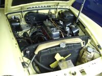 MGB GT Restored& 2Pack spray built to use on tours ,replaced by MX5 now