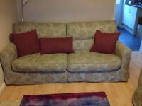 4 seater and 2 seater sofas with matching cushions