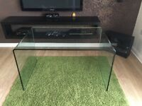 Geo-Glass Large Clear Glass Desk