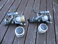 2x Shimano 10000 XTE baitrunner reels with spare spools