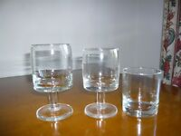Selection of glasses from the 1970's