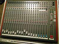 Allen & Heath ZED 24 Mixer with Flight Case 16 MONO 4ST, USB Recording