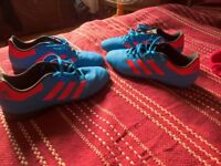 footbal boots 2 pairs number 46 and shin pads