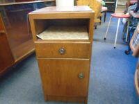 small vintage bedside cabinet.