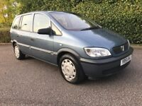 2001 vauxhall zafira 1.6 CLUB 7 SEATER TIDY CAR LOW MILEAGE