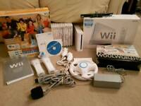 Nintendo Wii + 12 games inc mario kart + wii sports