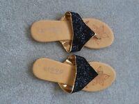 Black Sparkly Flip Flops - Size 5 - Brand New