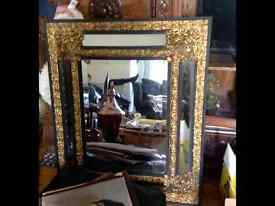 Rare Antique French Ebonised wood framed Mirror For Sale Circa 1880