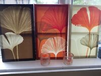 Next Home 3x Canvas 2x Candle Holder (Matching)