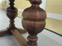 Extendable dining table,hand carved leg,solid oak,antique,90-150CM