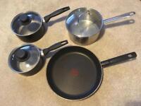 Assorted pots & pan