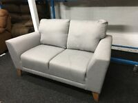 New/Ex Display Dfs Grey Fabric Sofa
