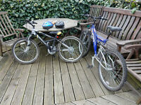 Two boy's bicycles / bikes