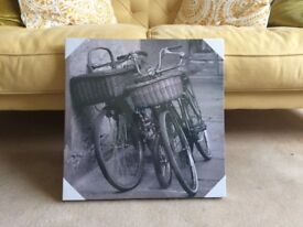 Bicycle Grey canvas picture