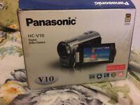 Panasonic vio hd camcorder in red