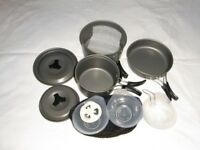 11 Pcs Camping Pan Set With Mesh Carry Bag