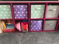 2 pink storage units (£20 each)