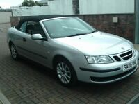 2006 06 SAAB 9-3 1.8T LINEAR CONVERTIBLE 150 BHP ** 81000 MILES ** 12 MONTH MOT ** LEATHER **