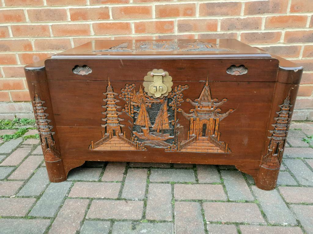 Large Carved Camphor Trunk From Singapore Oriental Chest Chinese In Ipswich Suffolk Gumtree