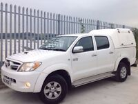 2009 TOYOTA HILUX D/C 3.0 D4-D HL3 MANUAL 4X4 WHITE