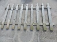 Garden Fence Panels x 2 and Gate