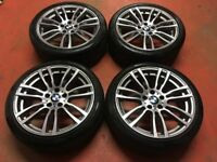 19'' GENUINE BMW 3 SERIES F30 F31 F32 403 STYLE 4 M SPORT E90 ALLOY WHEELS ALLOYS TYRES