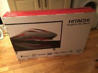 """3 weeks old boxed hitachi 43"""" tv with built in DVD player. £190 NO OFFERS . CAN DELIVER"""
