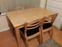 Kitchin table and chairs