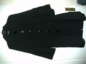 LADIES BLACK COAT SIZE 14