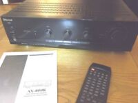 Sherwood AX-4050R stereo amplifier in mint condition with remote control - 50 watts per channel