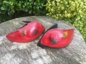Peugeot 206 Rear lights ,
