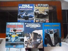 SEVERAL BOOKS ON FORMULA 1 AND MOTOR CARS, IN EXCELLENT CONDITION