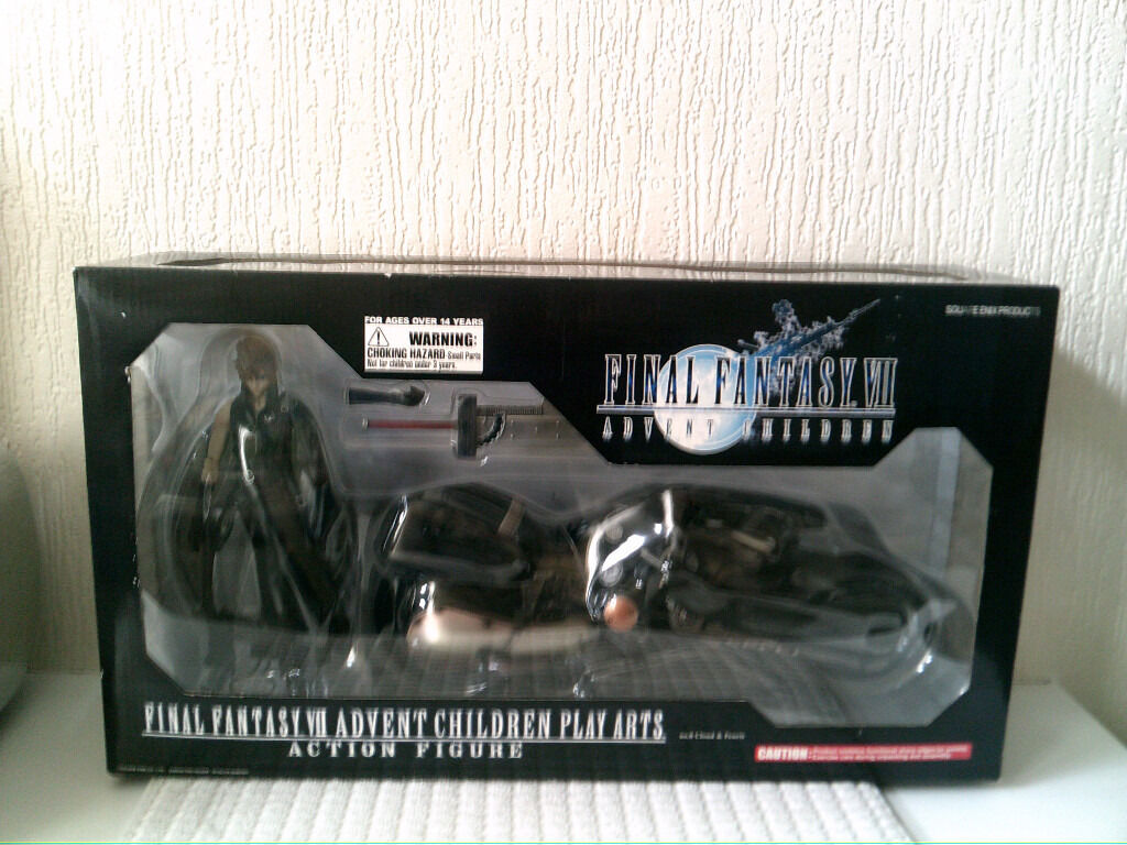 Final Fantasy Vii Advent Children Cloud Fenrir Bike Play Arts
