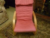 Kids Pink chair ideal for small childs bedroom wendy house or playroom