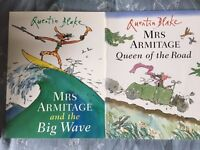 Quentin Blake books x 2 - Mrs Armitage and the Big Wave and Mrs Armitage Queen of the Road