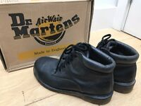 Dr. Martens Air Wair Industrial Steel Toe Safety Shoes – Women's Leather Chukka Boots