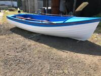 16ft open fishing boat and snipe break back trailer £2000 ONO