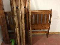 king size wooden bed frame like new £60 ono