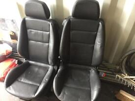 Auxhall astra heated leather seats and door cards.