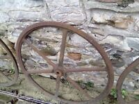 3 ft cast iron wheels