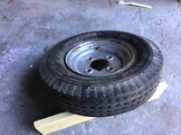 Trailer wheel with new tyre 4.8*8 6ply