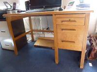Vintage solid pine desk