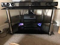 Black chrome legs tv stand