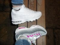 Nike 95's in Pink and Dark to Light Grey (not the black or white pair)