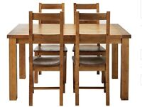 Brand New Solid Pine 4 Seater Dining Set