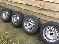 Volkswagen T5 wheels and load tyres