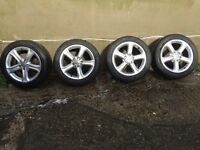 "17"" Audi A4 Alloy Wheels 5x112 *Like New*"